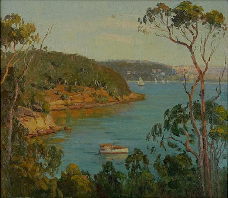 LANGKER, Erik (1898-1982) Quiet Bay, Sydney.