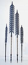 Solomon Islands Barbed Spears. 2 early short,