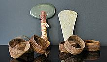Various PNG Items. Incl. green stone ceremonial