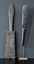 2 Trobrian Island Ceremonial Carvings. Older