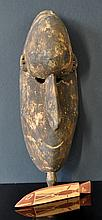 PNG Mai Mask & Indigenous Carved Fish. Mask from