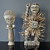 2 Various African Fetish Figures. Standing male