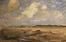 Nathaniel Hone RHA 1831-1917 ESTUARY, MALAHIDE Oil on board, 12'' x 18'' (20.5 x 45.5 cm), signed. Provenance: Cynthia O'Connor (label verso)