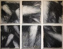 John Shinnors b. 1950 BIRDS OVER LOOP I Oil on canvas, 6 panels each 12'' x 10'' (30.5 x 25.5cm), signed; signed and inscribed verso.   Provenance: Taylor Galleries, Dublin , Catalogue No. 20, Nov/Dec 2004 (label verso).