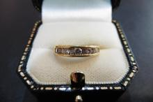 Pre-owned 18ct yellow gold eternity ring