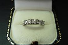 Pre-owned platinum five stone ring