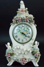 An antique porcelain clock