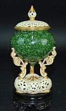 A porcelain Italian covered jar