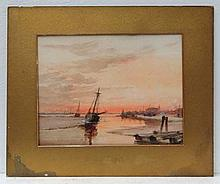 Morrison XIX-XX Watercolour Fishing boats