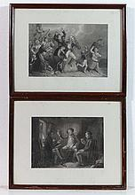 Scottish School Pair of engravings Imbibing within