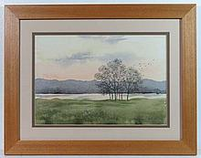 William Mallory ?XX Watercolour Lake view Signed