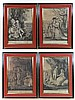 Sayers and Bennett 1785 A set of 4 Mezzotints The