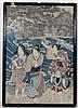 Japanese ukiyo-e woodblock A polychrome depiction