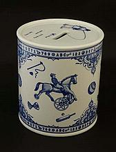 An '' Edwardian Childhood '' Blue and white '' Spode '' money box, the whole dec