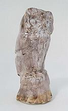 A David Sharp, Rye Pottery bust of an Owl.  Signed under. 11'' High.   Pleas