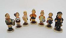 A collection of 5 Goebel & Hummel figures. To include: '' For Keeps '' (Jungbaue
