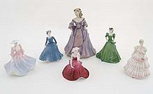 A collection of 6  Coalport figures, to include '' Moonlit Rendezvous '' from th