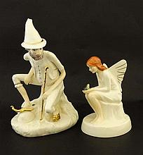 Two Royal Doulton hand made figures from the '' Enchantment '' collection, to in