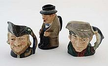 A collection of three Royal Doulton character jugs, to include : '' Winston Chur