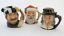A collection of 3 large Royal Doulton character jugs, to include: '' Santa Claus