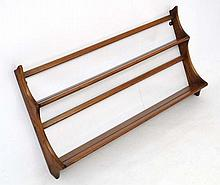 Vintage Retro :   an Elm Ercol open plate rack, gold label, 38'' wide x 18