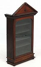 A 19th C Walnut Collectors / Specimen cabinet. The glazed front cabinet wit