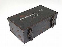 Militaria : A WWII - era German Verbandkasten first aid kit , the top secti