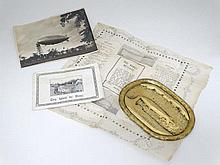 Airship Memorabilia : A period photograph of the HMA R101 airship in dock a