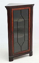 An early 19thC mahogany astralglazed floor standing cupboard 25 1/4'' wide