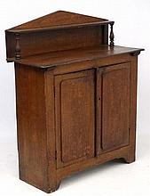 A 19thC comb decorated pine architectural chiffonier 39 1/4'' wide x 46'' h