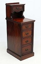 A late 19thC walnut clerks filing cabinet of 5 drawers 16 1/2'' wide x 24''