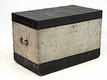 Militaria : A large early 20thC Naval trunk by Gieves , Matthews & Hawkes ,