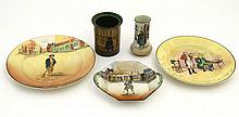 Three items of mid 20thC Royal Doulton Dickens Ware to include a '' Tony We
