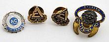Allis- Chalmers - 3 badges and an enamel and gilt British Legion lapel badg