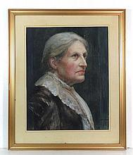 Mabel M Allport Mid XX Watercolour Portrait of a