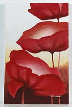 Reid Miller XX-XXI Oil on canvas Red flowers
