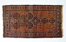 Carpet / Rug : A handmade woollen Turkoman style