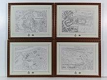 Four Queen Elizabeth II Golden Jubilee maps of