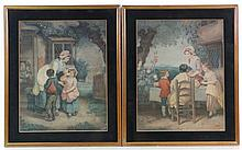Manner of George Morland c. 1800 Pair of coloured
