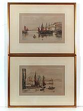 Henry George Walker (XX) Pair of coloured etchings
