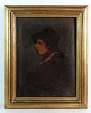 Early XIX English School Oil on canvas Portrait of