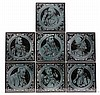 Maw & Co Tiles ; A rare set of circa 1880 Maw &