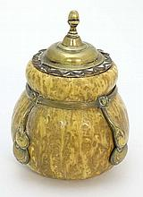 A Continental Amphora gourd shaped pot, glazed in