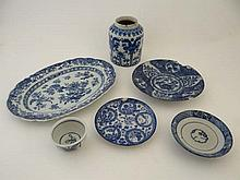 A quantity of 18thC and later Oriental blue and