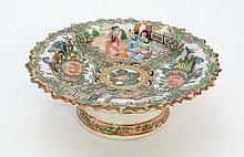 A 19thC Chinese Cantonese Famille Rose pedestal