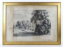 Monochrome print ' South West, Or Garden Front of