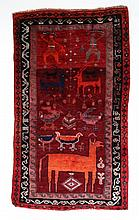 Carpets / Rugs: A woollen carpet, possibly South /