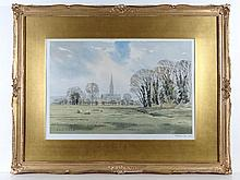 After George Sear (c 1935 -), Gilt framed