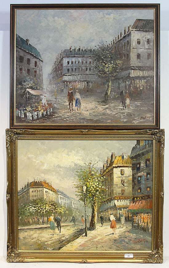 Caroline Burnett, (XX) Pair of oils on canvas