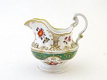 A circa 1840 English porcelain hand painted jug